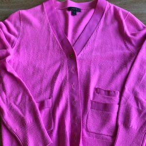 J.Crew Harlow cardigan in bright pink